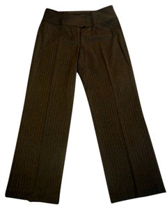 CAbi Pinstripe Trouser Pants Tan Stripes
