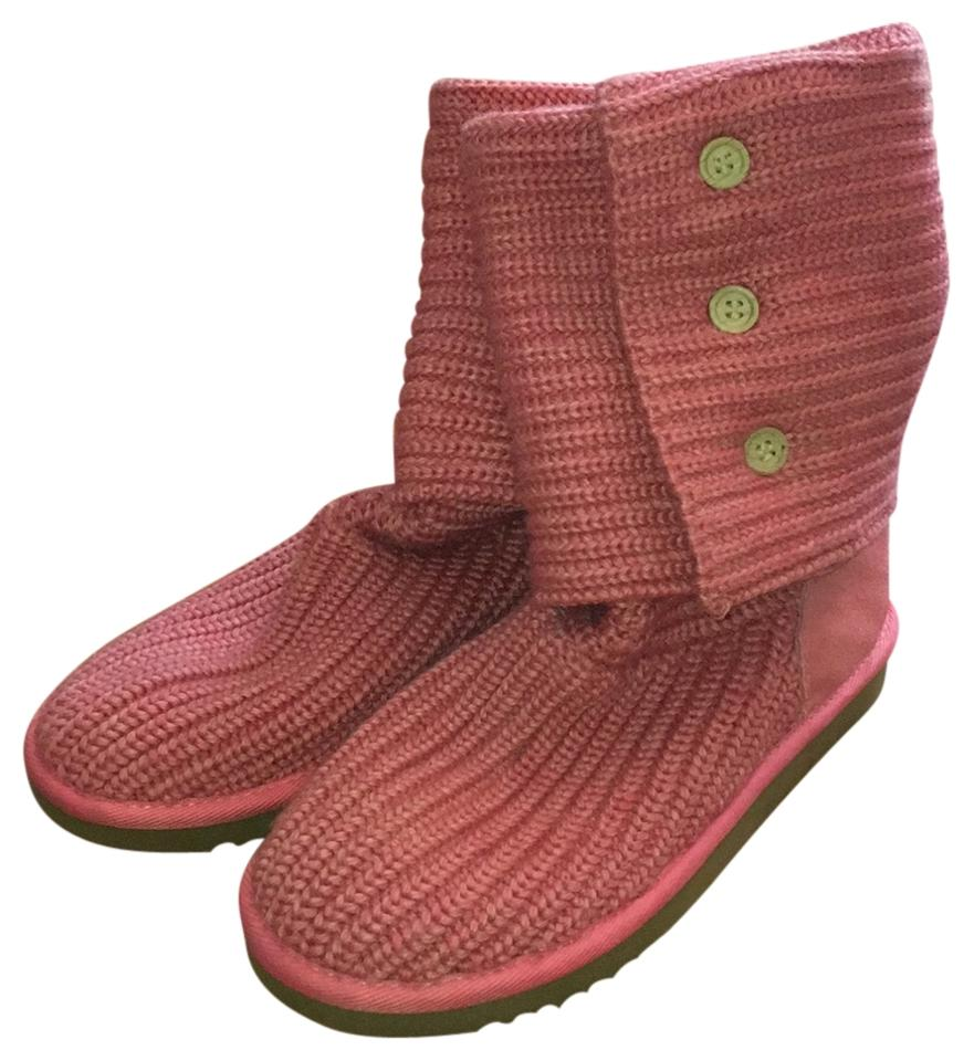 7fbbe9d33ff UGG Australia Pink Women's Classic Cardy Boots/Booties Size US 8 Regular  (M, B) 49% off retail
