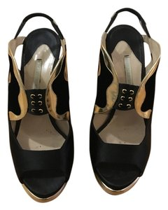 Nicholas Kirkwood Black / Gold Platforms