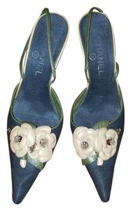 Chanel begie /blue Pumps