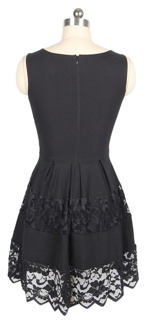 Preload https://img-static.tradesy.com/item/10841299/forever-21-black-lace-knee-length-short-casual-dress-size-4-s-0-1-650-650.jpg