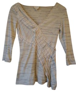 Anthropologie Deletta Wrap Pleated T Shirt