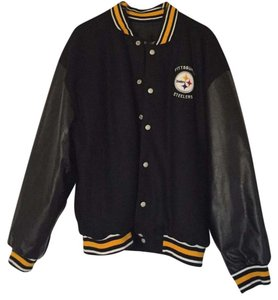 Pittsburgh Steelers Reversible Leather/cotton and nylon Winter Coat. 2XL Jacket