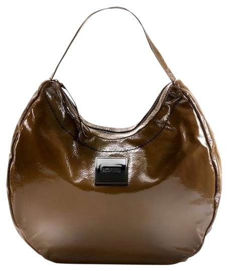 Kenneth Cole Reaction Patent Faux Patent Faux Leather Hobo Bag
