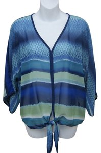 Saks Fifth Avenue Top Blue & Green