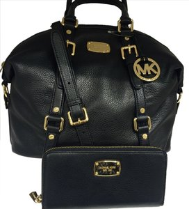 Michael Kors Bedford Leather Satchel in Black