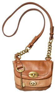 Fossil Mason Small Flap Leather Brass Chain Zb5135 Cross Body Bag