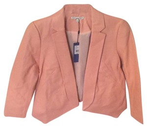Rebecca Minkoff Lambskin Pink Leather Jacket