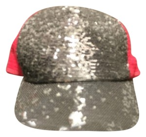 Hot pink sequins trucker hat Trucker Hat