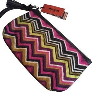 Missoni for Target Black Fuscia Clutch