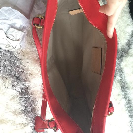 Coach Spring Summer Casual Tote in Red Image 4