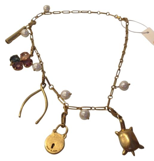 Tory Burch TORY BURCH NWT FAUX PEARL CHARM NECKLACE Image 1