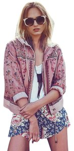 Free People Play My Song Sz M cotton candy Jacket