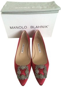 Manolo Blahnik Classic Red Flats