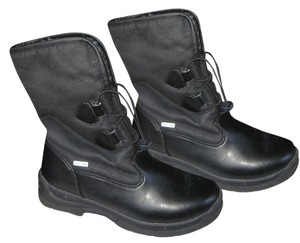Weatherproof Winter Pull Front Grey Inner Soft Black Boots