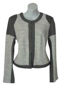 CAbi Top Gray and Off White