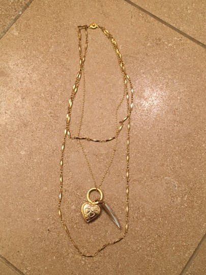 Other Gold chain layered charm locket necklace Image 3