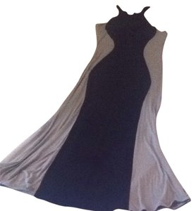 Black And Olive Green Maxi Dress by poof couture