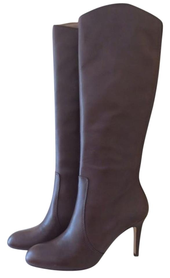 Lands' Lands' Lands' End Brown Leather Distressed Stiletto Boots/Booties 2d7b15