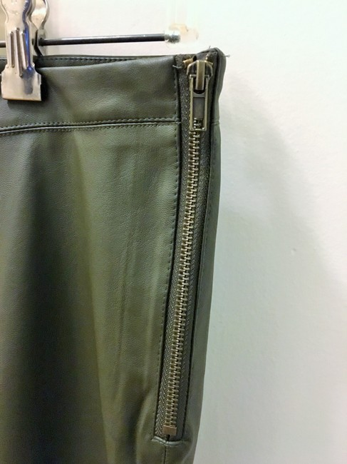 H&M Faux Leather Sold Out Skinny Pants Olive/Khaki Green Image 2