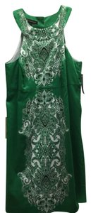INC International Concepts short dress Green and white on Tradesy