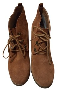 Steve Madden Wedge Chestnut (Suede) Boots