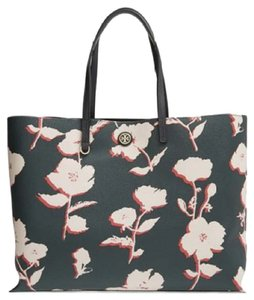 Tory Burch Tote in Poises english green white flower