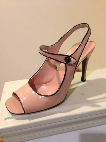 Prada Pink And Black Sandals