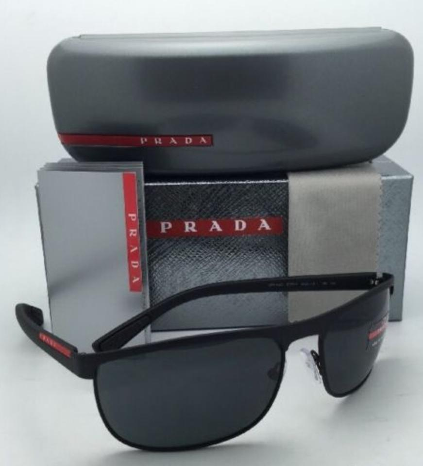01c9867b84c Prada Sps 54q Dg0-1a1 Black Rubber Frame W  Grey Lenses New 63-17 W   Sunglasses - Tradesy