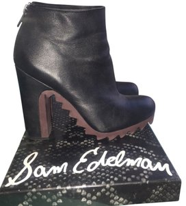 Sam Edelman Circus Leather Black Boots