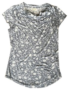 Banana Republic Knit Cowel-neck Top grey and white