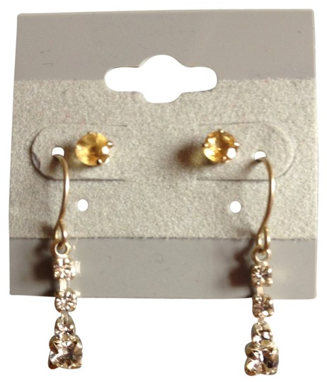 Preload https://item4.tradesy.com/images/other-yellow-studs-cubic-zirconia-dangling-1084718-0-0.jpg?width=440&height=440