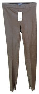 Vince Leather Ankle Olive Taupe Skinny Pants Olive-Taupe