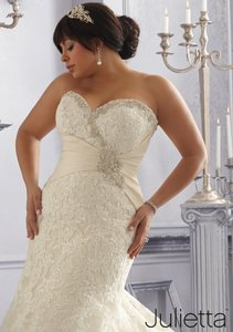 Mori Lee Champagne Http://Www.morilee.com/Bridals/Julietta/3165 Formal Wedding Dress Size 22 (Plus 2x)