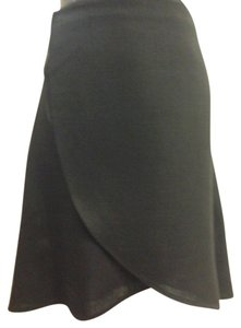 Emporio Armani Wrap Size 6 Mini Skirt Black