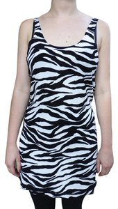 TOMA short dress ZEBRA STRIPED-BLACK AND WHITE Soft Inside on Tradesy