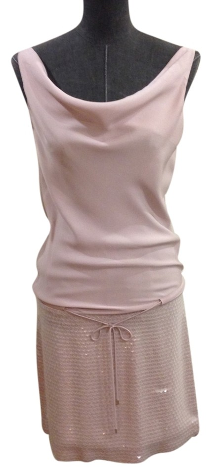 e98f2b0ce4533 Diane von Furstenberg Blush   Mauve Pink Silk and Sequin Casual Dress. Size   4 ...