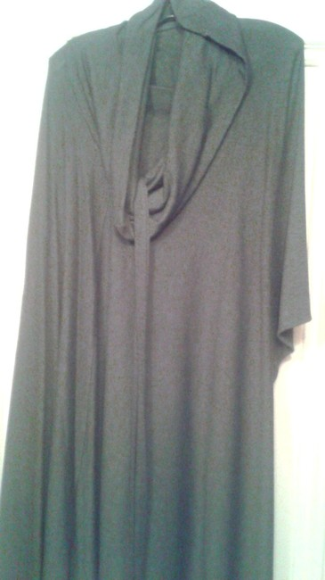 Item - Grey Wrap Around Tunic Or Throw Long Work/Office Dress Size OS (one size)