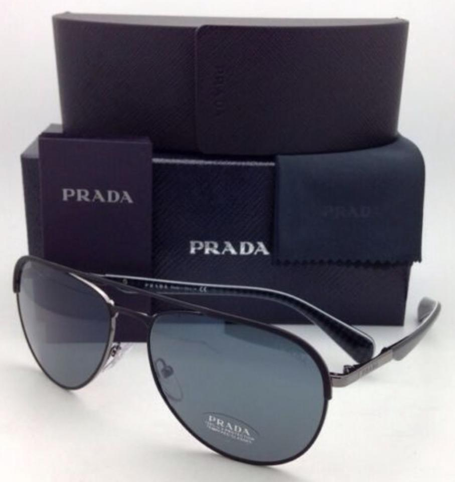 06e6199bedcc Prada Gold Aviator Sunglasses With Crystal Blue Lens - Shabooms