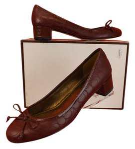 Coach Burgundy Pumps