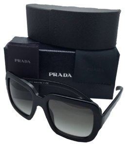 Prada New PRADA Sunglasses SPR 07R 1AB-0A7 56-20 Black on Matte Black Frame w/ Grey Gradient Lenses