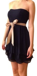 Ark & Co. short dress Navy Strapless Bow on Tradesy