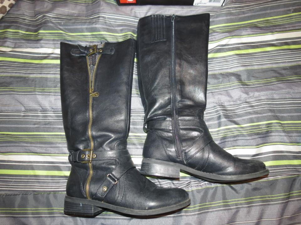 Guess Black Riding Bootsbooties Size Us 8 Tradesy