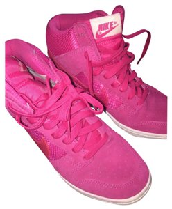 Womens Dunk Sky Hi Mesh Womens Hi Top Trainers 579763 600 Sneakers Wedge Shoes Hot pink Athletic