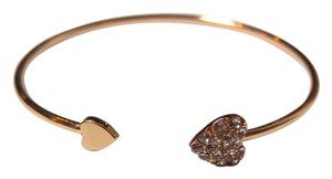 Other Gold Tone Gold Filled Heart Bangle Bracelet New Jewelry J1862