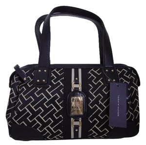 Tommy Hilfiger Monogram Satchel in Black