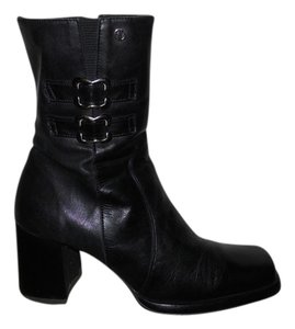 Alain Delon Leather black Boots