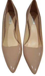 Cole Haan Heels Patent Leather Pointed Toe Beige Pumps