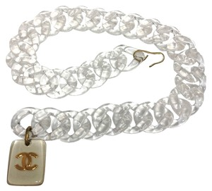 Chanel Chanel #4566R Oversized Clear Chain CC Pendant Gold charms two way belt and necklace