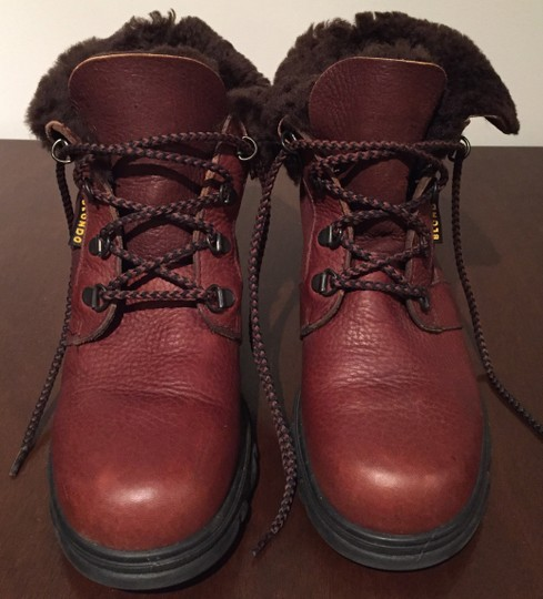 Blondo Leather Winter Snow Leather Snow Brown Boots Image 1
